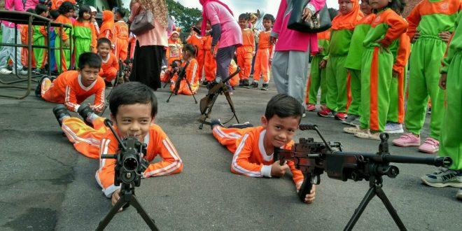 TNI Sahabat Anak Disambut Antusias Ratusan Siswa TK