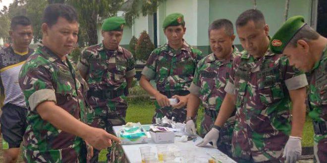 Anggota Makorem 071/Wk Bebas Dari Penyalahgunaan Narkoba