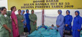 1300 Orang Ikuti Donor Darah HUT Persit dan Dharma Pertiwi