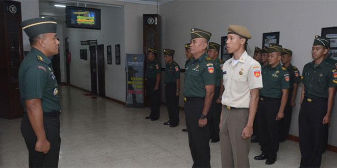 Kapendam IV Pimpin Laporan Korp Kenaikan Pangkat