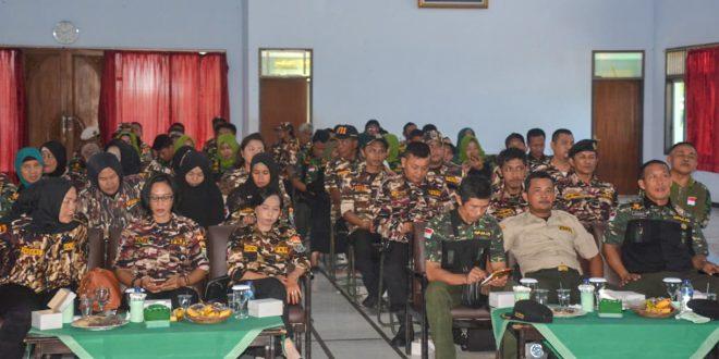 Korem 071/Wk Gelar Pembinaan Keluarga Besar TNI