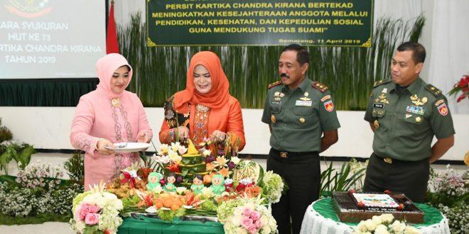 Peringati HUT ke 73, Persit KCK PD IV/Diponegoro Menggelar Syukuran