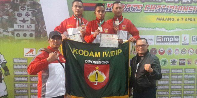 Karateka Kodam IV Ukir Prestasi di Divisi 2/Kostrad Open II Karate Champion TA. 2019