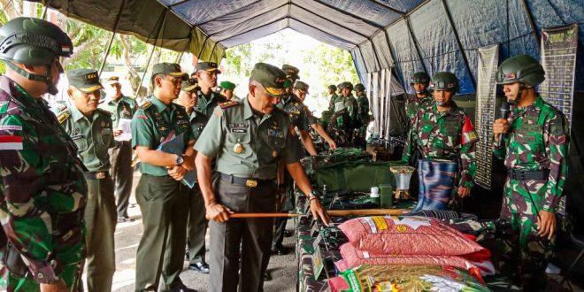 Jelang Operasi Pamtas, Pangdam Cek Kesiapan Pasukan dan Perlengkapan