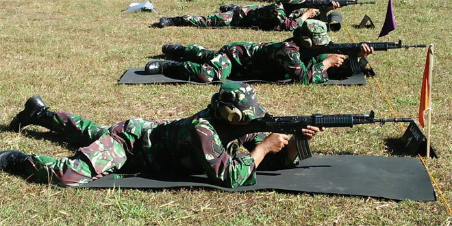 Tingkatkan Kemampuan Prajurit Yang Profesional Kodim 0706 Temanggung Gelar Latihan Menembak