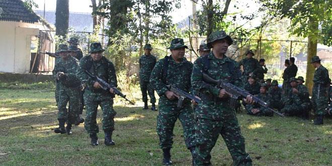 Kodim 0707 Latihan Patroli Hutan