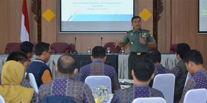 Kapendam Berikan Materi Public Speaking dan Kepemimpinan Pemimpin Unit PLN