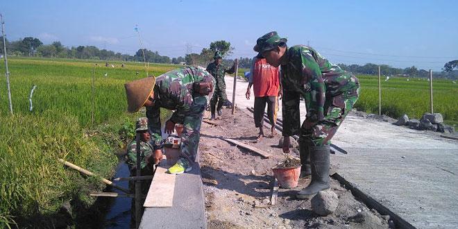 Talud TMMD Reguler 105 Kodim Klaten Sudah Memasuki Tahap Finishing