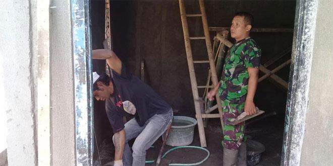Antusias Rakyat Bersama TNI Bangun RTLH Program TMMD Sengkuyung Tahab II Kodim 0706 Temanggung