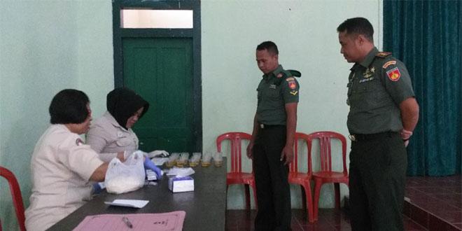 Selesai Upacara, 50 Anggota Kodim Magelang Didadak Tes Urine