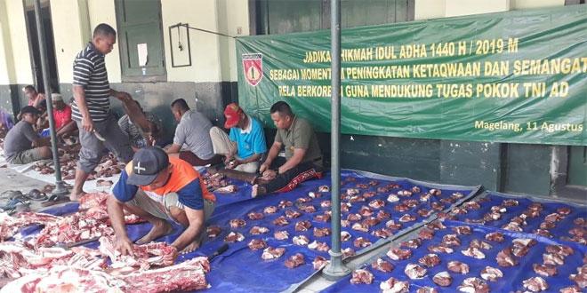 Seekor Sapi dan 3 Ekor Kambing, Jadi Hewan Kurban Kodim 0705/Magelang