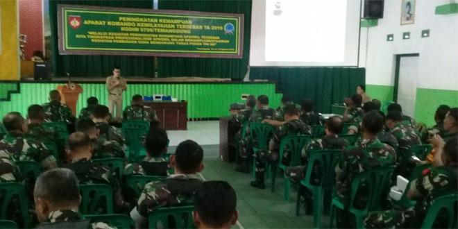 Kodim 0706 Temanggung Tingkatkan Kemampuan Aparat Komando Kewilayahan Dan Binter