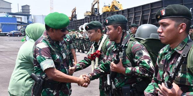 Pangdam IV Sambut Satgas Yonif Raider 408/Sbh Dari Tugas Pamtas RI-RDTL