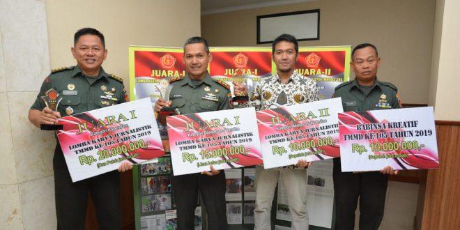 Pendam IV Pertahankan Juara I Lomba Karya Jurnalistik TMMD