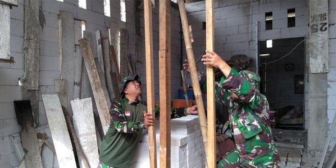 Berkat Program TMMD Sengkuyung Tahap III Kodim 0706 Temanggung Bapak Widodo Terkabulkan Mempunyai Rumah Layak Huni