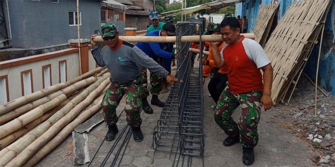 TNI Pacu Pengerjaan Program TMMD Jagalan Jebres Surakarta