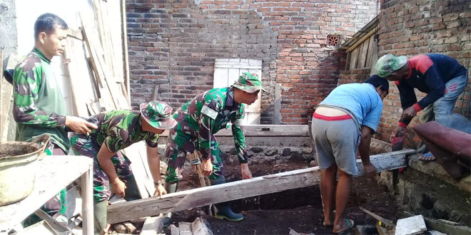 Rumah Pak Widodo Dibangun TNI Program TMMD Sengkuyung Tahap III Kodim 0706 Temanggung