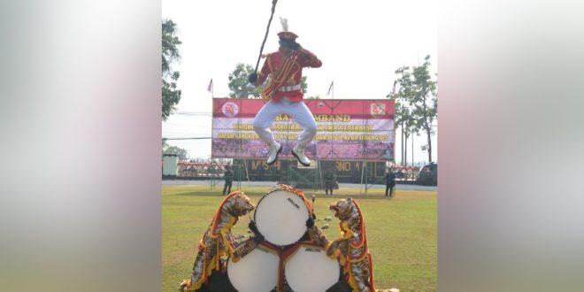 Semarakkan HUT Ke-74 TNI Dan HUT Ke-69 Kodam IV/Diponegoro, Korem 071/Wijayakusuma Gelar Lomba Marching Band