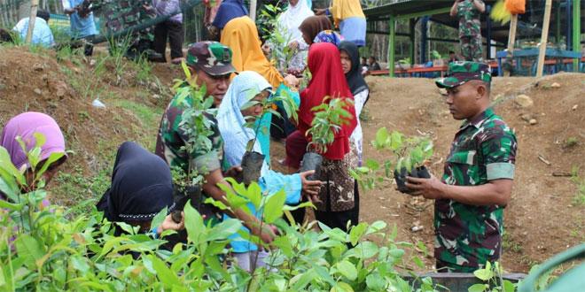 Peringati HJK Tahun 2019, Kodim 0701/Banyumas Tanam Ribuan Pohon