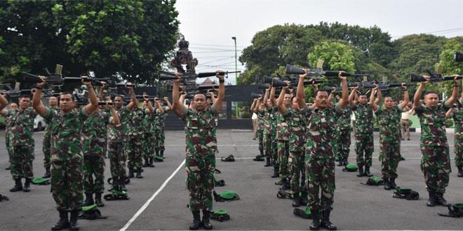Minggu Militer Korem 073/Makutarama Laksanakan Senam Senjata