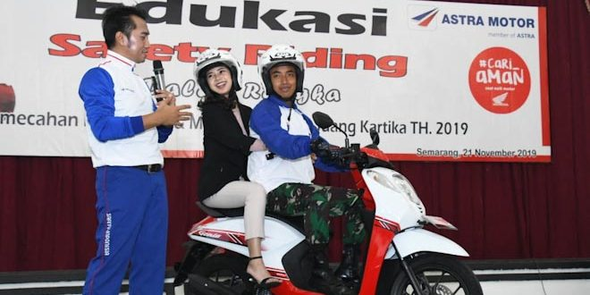 Kodam IV Bersama Astra Motor Pecahkan Rekor Muri Edukasi Safety Riding