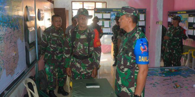 Danrem 071/WK Melakukan Inspeksi Latihan Penanggulangan Bencana Alam di Kodim 0704/Bna