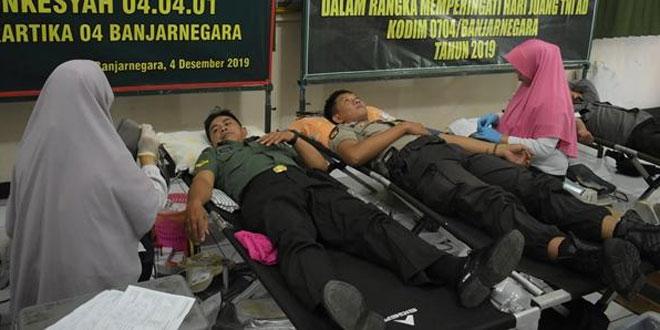 Donor Darah Dalam Rangka Hari Juang TNI AD