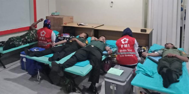 Dalam Rangka Hari Juang TNI AD TA. 2019, Kodim Solo Gelar Donor Darah