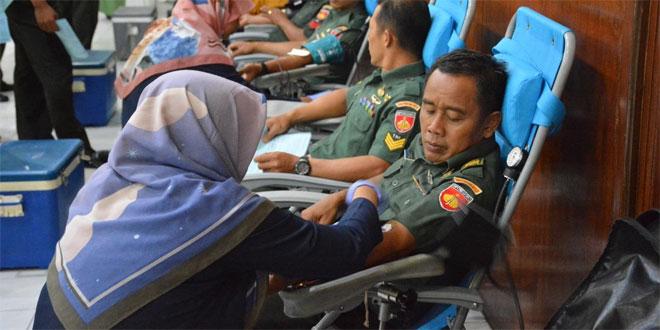 Sambut Hari Juang TNI AD, Korem 072/Pmk Gelar Donor Darah
