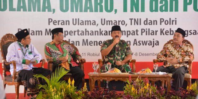Ulama, Umaro, TNI dan Polri Pertahankan Empat Pilar Kebangsaan dan Teguhkan Aswaja