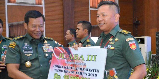 Kodam IV Kembali Raih Juara Lomba Karya Jurnalistik TMMD