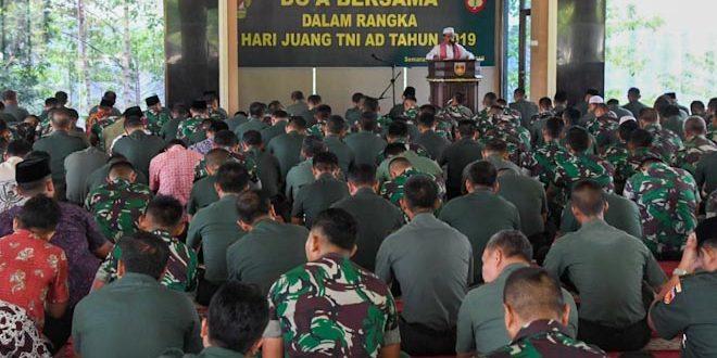 Kodam IV Gelar Do'a Bersama Untuk Keselamatan Bangsa dan Sambut Hari Juang TNI AD
