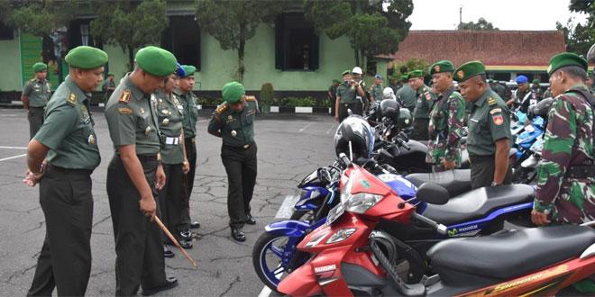 Korem 073/Makutarama Laksanakan Pengecekan Kendaraan