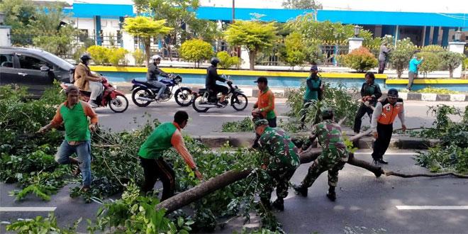 Melalui Kerja Bakti Sinergitas TNI dan Instasi Terkait Terbentuk