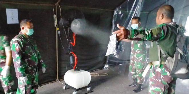 Cegah Corona, Rindam IV Dirikan Tenda Sterilisasi Personel