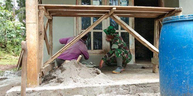 Program TMMD Sengkuyung Tahap I Kodim 0706 Temanggung Wujudkan Rumah Ibu Sulastri  Layak Huni Dan Sehat