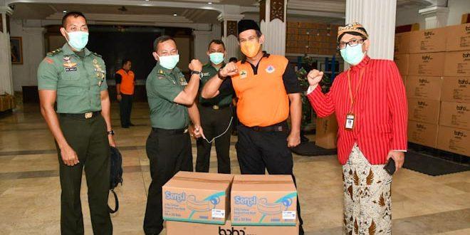 Kodam IV/Diponegoro Distribusikan APD Dari BNPB ke BPBD Jateng