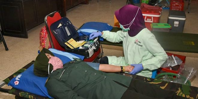 Kodam IV Peduli Sesama, Ratusan Prajurit dan PNS Sumbangkan Darahnya