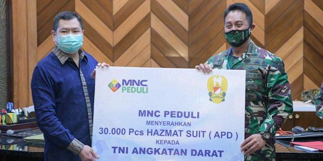 TNI AD Terima Bantuan 30.000 APD dari MNC Peduli