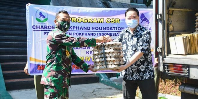 Dapur Umum Kodam IV/Diponegoro Dapat 80.000 Telur dari PT Charoen