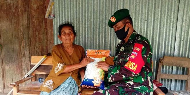 Sinergitas TNI Polri Beri Bantuan Warga Kurang Mampu
