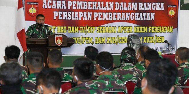 Satgas BKO Kodim Persiapan dari Kodam IV/Diponegoro Siap Bertugas Sebagai Apter di Wilayah Indonesia Bagian Timur