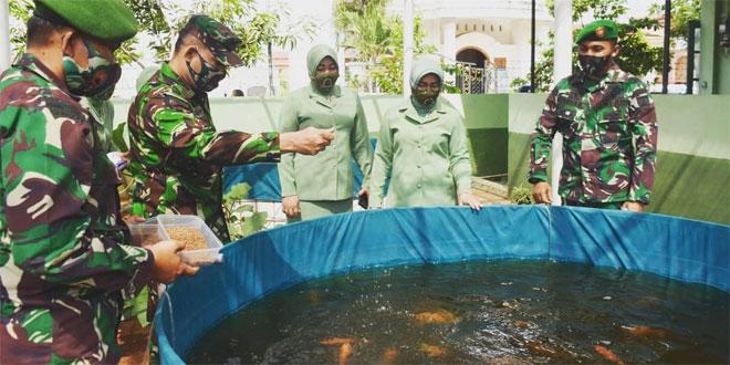 Danrem 071/Wijayakusuma Apresiasi Budidaya Ikan Air Tawar Kodim Pekalongan