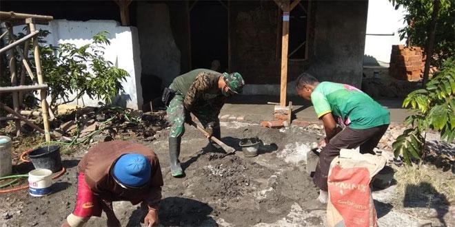 Rehap Rumah Tidak Layak Wujud Kemanunggalan TNI Bersama Rakyat