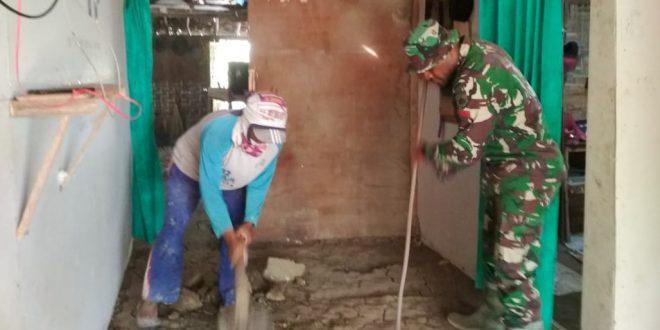 TMMD Wujudkan Impian Warga Miskin Punya Rumah Berlantai Keramik