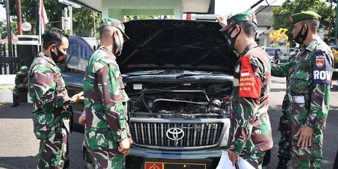 Dandim 0704/Banjarnegara Cek Langsung Kelengkapan Motor Dinas Anggota