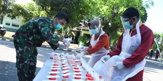 Cegah Narkoba di Kalangan Prajurit, Korem 074/Warastratama Sidak Tes Urine