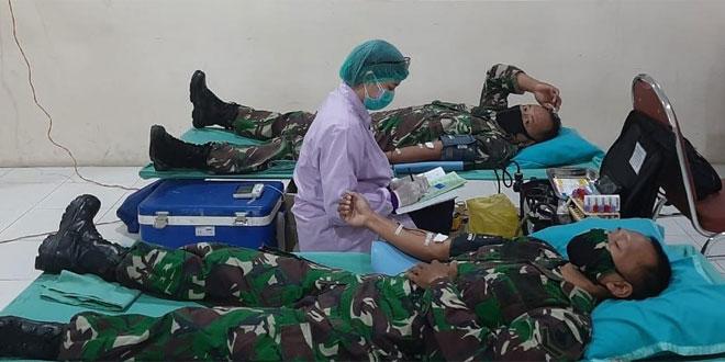 Dalam Rangka Memperingati HUT TNI ke – 75 ,Kodim Solo Gelar Donor Darah
