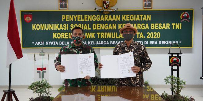 Tingkatkan Kerjasama IT, Danrem 071/Wijayakusuma dan Rektor IT Telkom Teken MoU