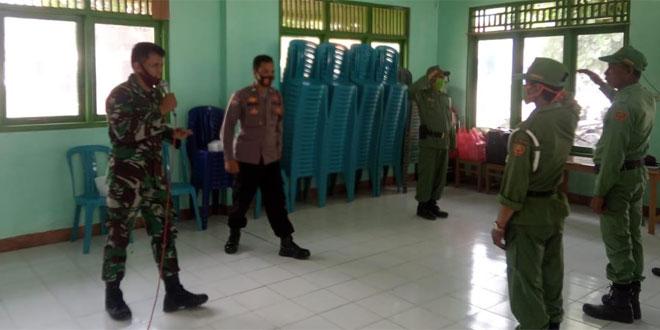 Tingkatkan Disiplin Linmas, Babinsa Koramil Japah Latih PBB Dan Wawasan Kebangsaan